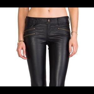 Free people vegan leather skinny jeans
